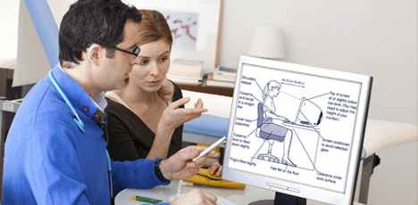 Different types of ergonomics posture and movement